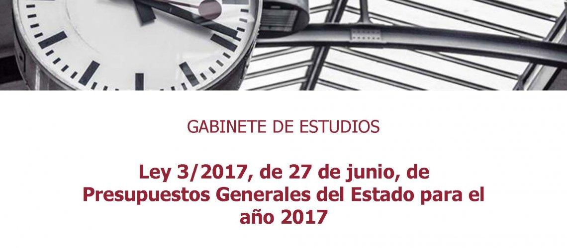 Ley Presupuestos Generales del Estado 2017